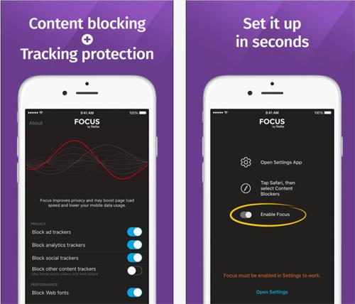 Focus par Firefox : le bloqueur de publicités débarque sur iOS