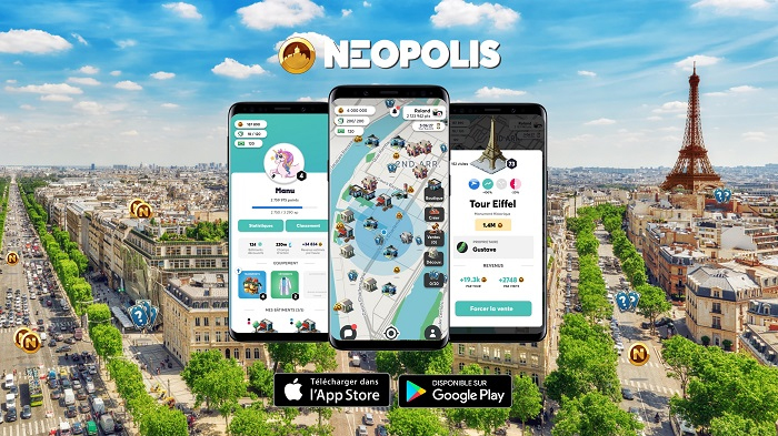 Neopolis, une application de Monopoly grandeur nature dans toute la France