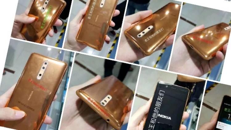 Nokia 8 : le smartphone se dévoile à travers une image non officielle avec sa coque Or Cuivre