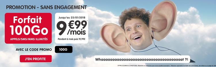 NRJ Mobile : le forfait Woot 100 Go à 9.99 € est de retour