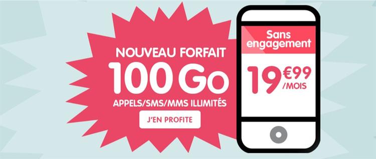 NRJ Mobile passe à un forfait 100 Go  à 19.99 € sur sa formule Woot