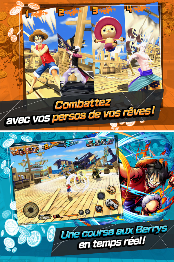 One Piece Bounty Rush est disponible sur mobile