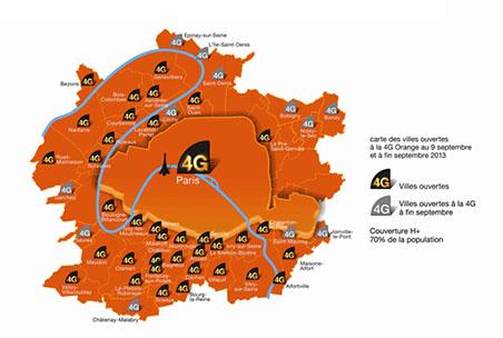Orange couvre l'ensemble des arrondissements de Paris en 4G