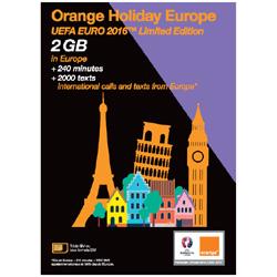 Orange Holiday Europe UEFA EURO 2016 pour les touristes en voyage en Europe