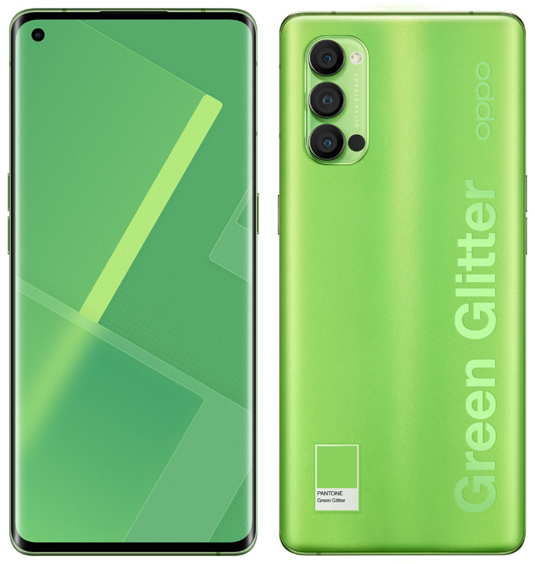 Pantone s'associe avec Oppo pour lancer le Reno4 Pro Green Glitter
