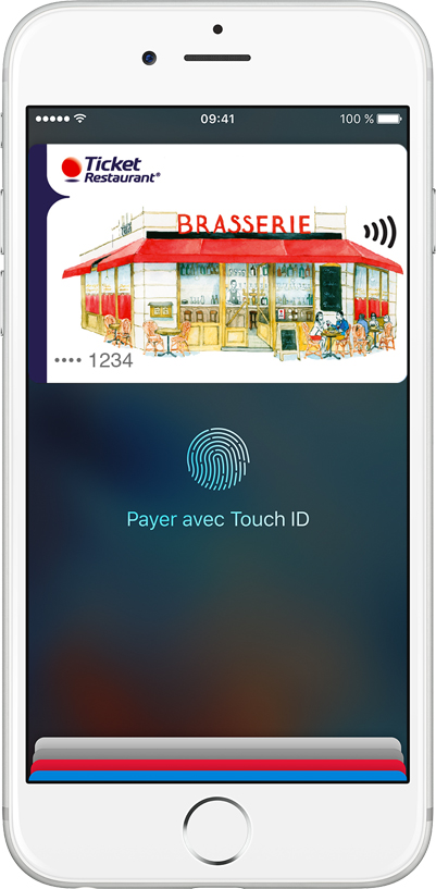 Apple Pay est disponible pour les porteurs de la carte Ticket Restaurant