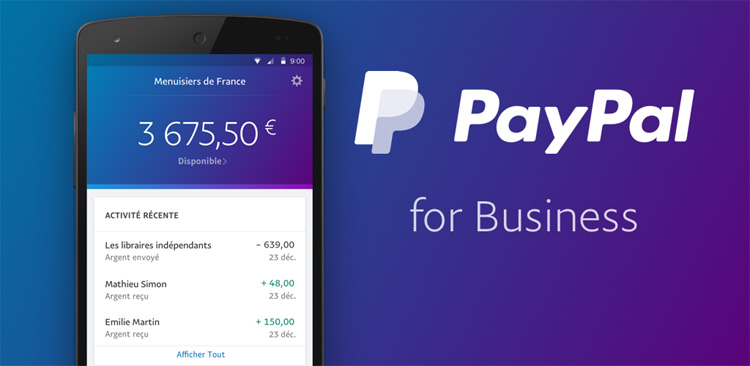 PayPal lance une application dédiée aux marchands