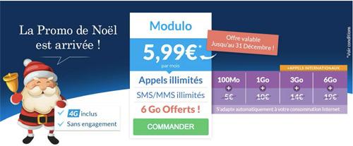 Prixtel : le forfait Modulo avec appels, SMS/MMS illimités et 6 Go est à 5,99 € par  mois
