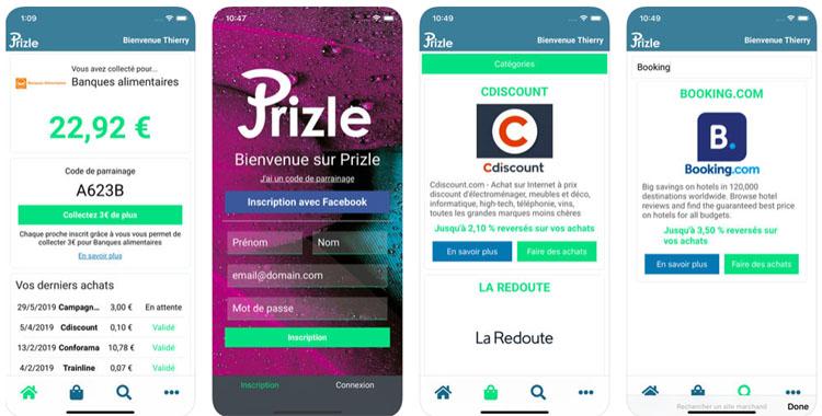 Prizle, une application qui permet de faire un don lors d'un achat