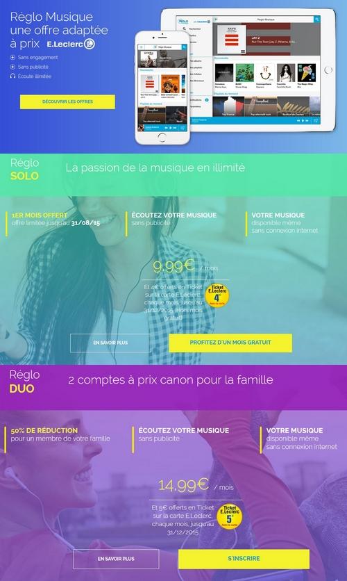 E.Leclerc lance Réglo Musique, une offre de musique en streaming