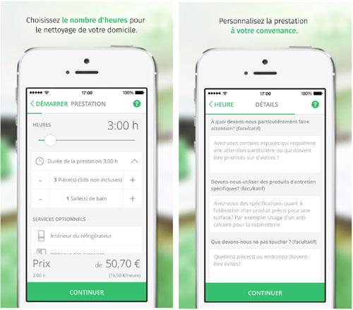 Réserver une aide-ménagère de confiance à partir d'un smartphone est désormais possible