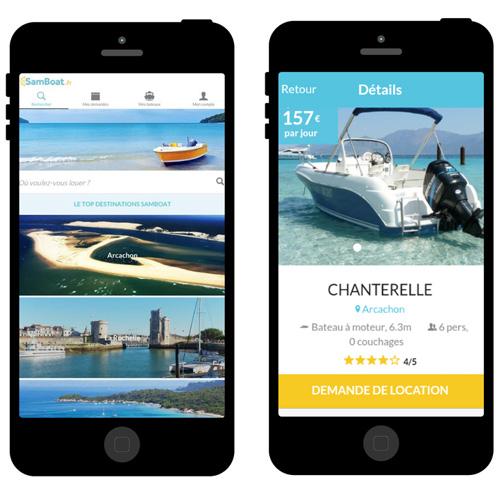 SamBoat lance une application pour louer un bateau entre particuliers
