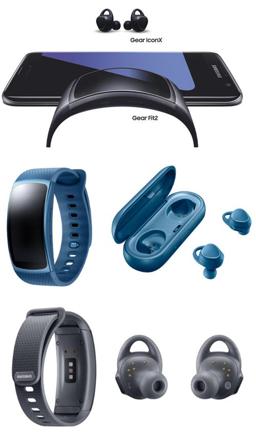 Samsung lance pour les sportifs le bracelet connecté Gear Fit2 et les écouteurs Gear IconX