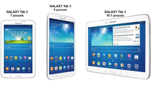 Samsung présente les nouvelles Galaxy Tab 3