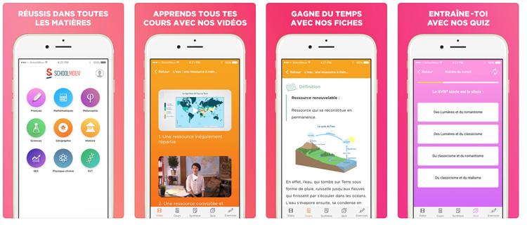 SchoolMouv, une application avec tous les cours de la 6ème à la terminale pour réviser de manière ludique