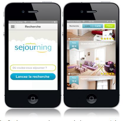 Sejourning lance son application mobile disponible gratuitement sur iPhone