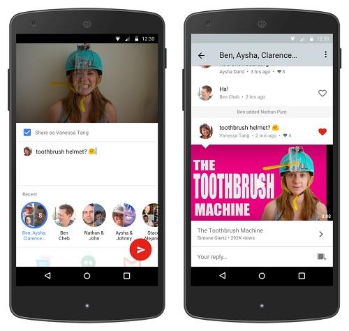 Native sharing, le service de messagerie privée de YouTube