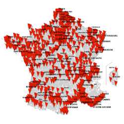 SFR : 21 communes ouvertes en 4G+ jusqu'à 500 Mbit/s