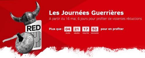SFR Red  : 2 forfaits de 2 et 5 Go à prix réduits jusqu'au 22 mai