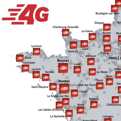 La 4G de SFR disponible dans 1 370 villes de l'Ouest