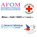 SMS pour Ha�ti : plus d'un million d'euros collect�s en un mois
