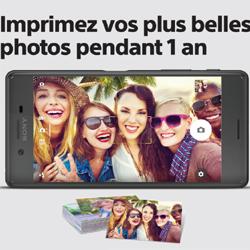 Sony Mobile : un an de photos offert pour tout achat d'un Xperia X