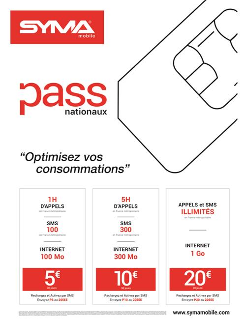 Syma Mobile enrichit sa gamme de Pass Nationaux et Internationaux