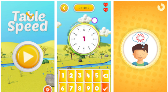Table Speed, une application pour apprendre les tables de multiplication