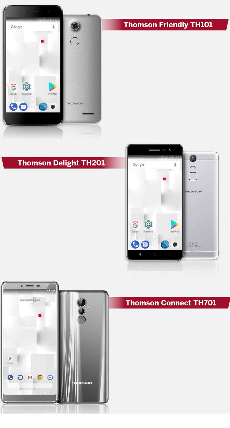 Thomson présente sa nouvelle gamme de smartphones