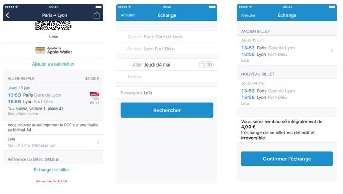 Trainline, échangez  vos billets de train via l'application iOS, c'est possible