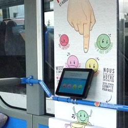 Transdev Ile-de-France Sud installe des tablettes interactives dans ses bus