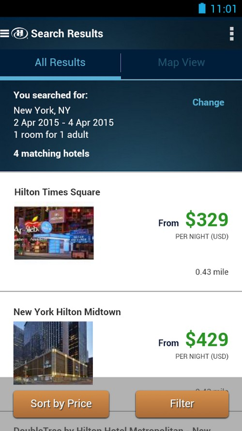 Une application mobile permet d'ouvrir sa chambre dans les hôtels Hilton
