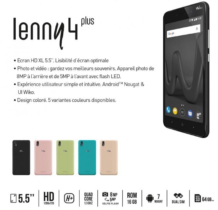 Wiko lance le Lenny 4 Plus, un smartphone de 5.5 pouces sous la barre des 100 euros