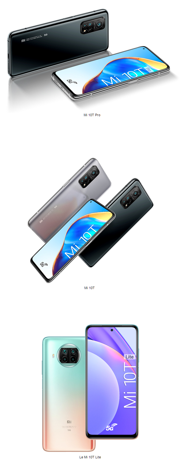 Xiaomi dévoile sa série Mi 10T avec trois nouveaux smartphones