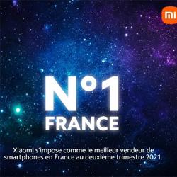 Xiaomi est leader sur le marché des smartphones en France au deuxième trimestre 2021