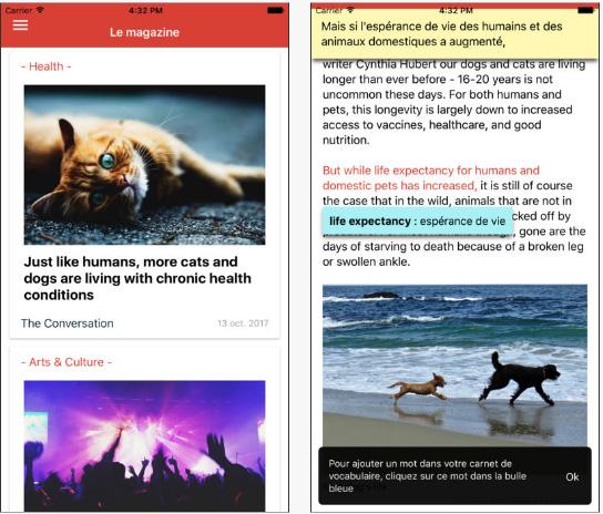 Yesmag, une application qui permet d'améliorer son anglais