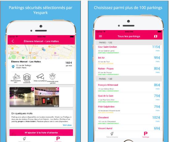 Yespark, l'appli qui simplifie le stationnement urbain