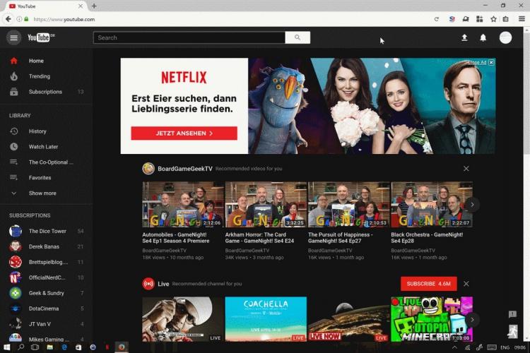 """Youtube: un mode """"fond noir"""" en test pour soulager les yeux"""