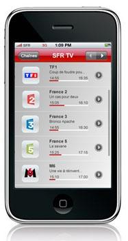 La TV mobile est également payante chez SFR