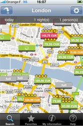 Hôtels : un logiciel pour réserver sa chambre d'hôtel via l'iPhone