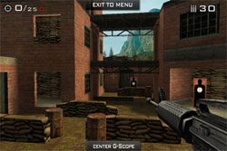 Eliminate  Gun Range : un jeu optimisé pour l'iPhone 4