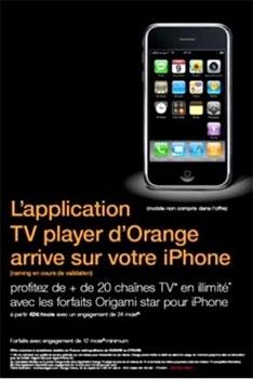 La TV d'Orange arrive sur l'iPhone