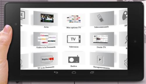 Le d�codeur TV SFR avec Google Play et Chromecast