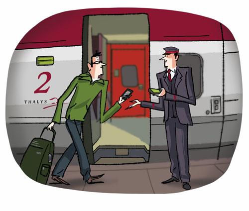 Thalys dématérialise complètement le ticket de transport